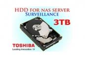 Ổ cứng gắn trong Toshiba Surveillance 3TB 3.5 inch SATA 7200rpm (MD03ACA300V)
