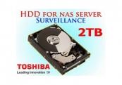 Ổ cứng gắn trong Toshiba Surveillance 2TB 3.5 inch SATA 7200rpm (MD03ACA200V)